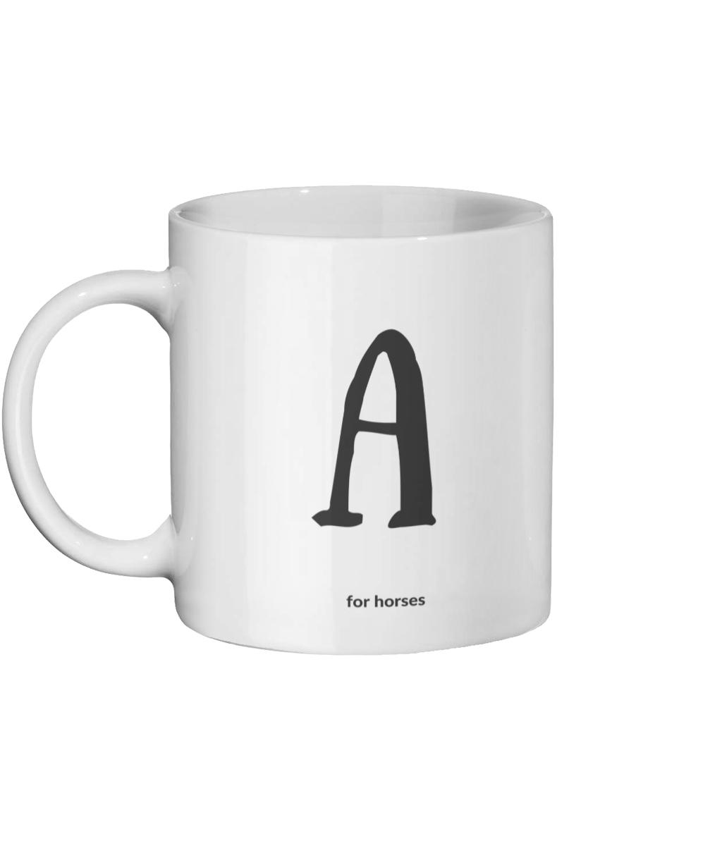 A for Horses Mug