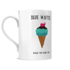 Blue Waffle Posh Mug Left Side