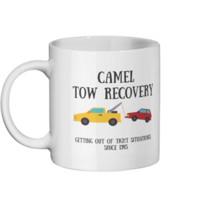 Camel Tow Mug Left side