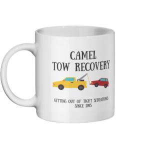 Camel Tow Mug Left side