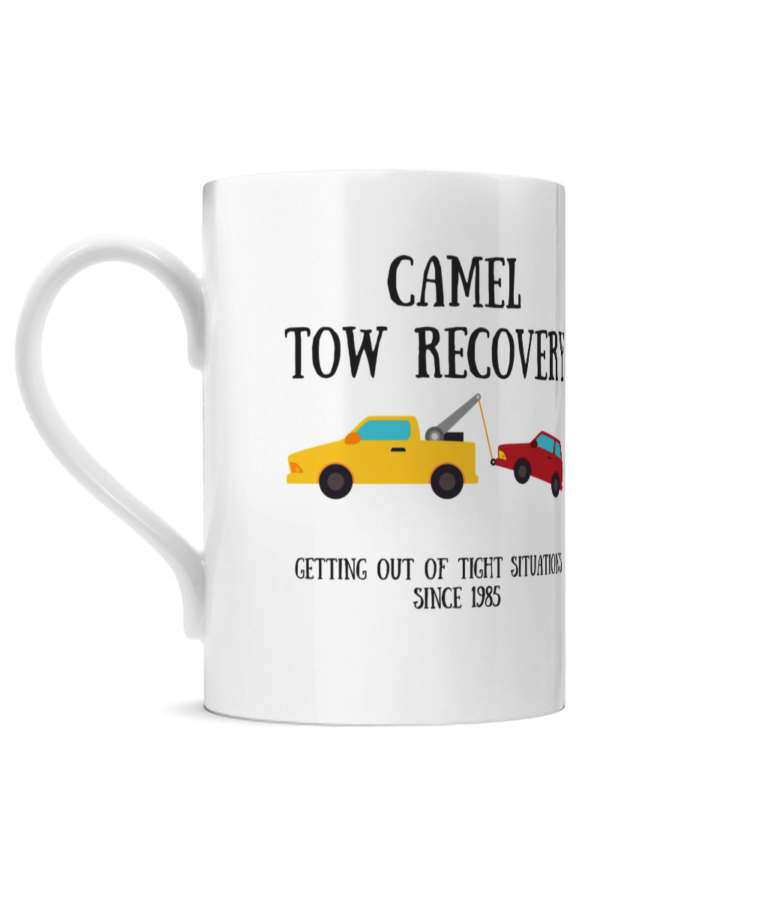Camel Tow Posh Mug Left side
