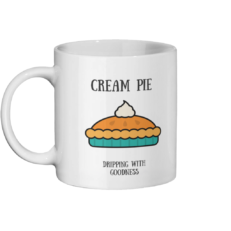 Cream Pie Mug Left side