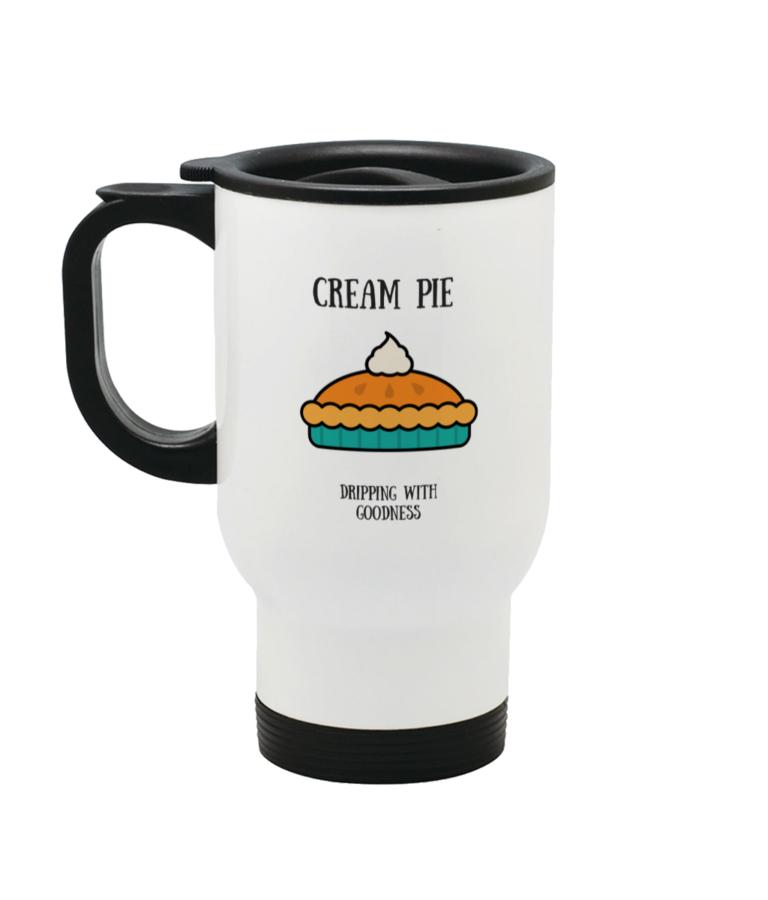 Cream Pie Stainless Steel Travel Mug Left side