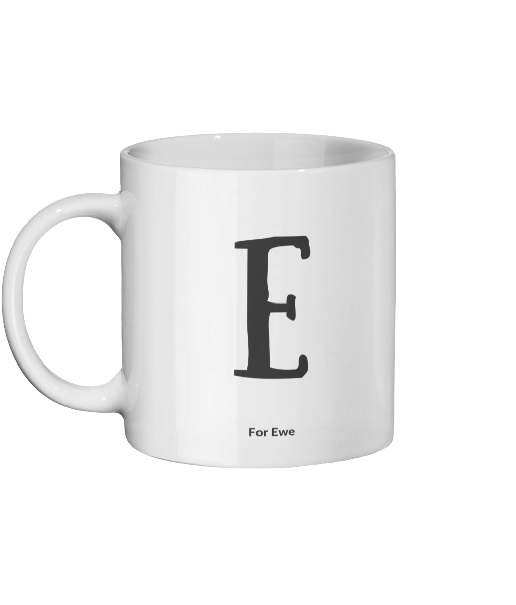 E for Ewe Mug Left-side
