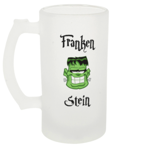 Franken Stein Frosted Beer Glass Left-side