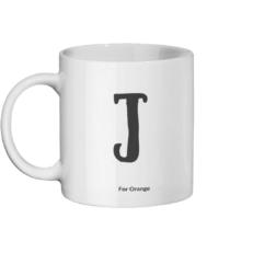 J For Orange Mug