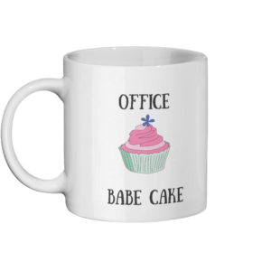 Office Babe Cake Mug Left-side
