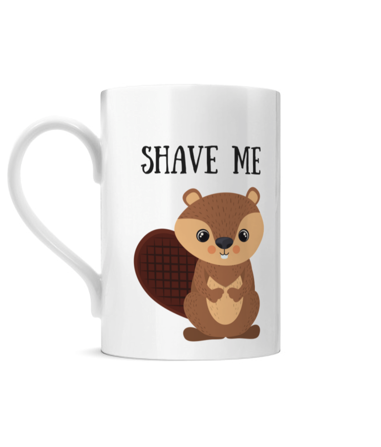 Shave Beaver Posh Mug Left side
