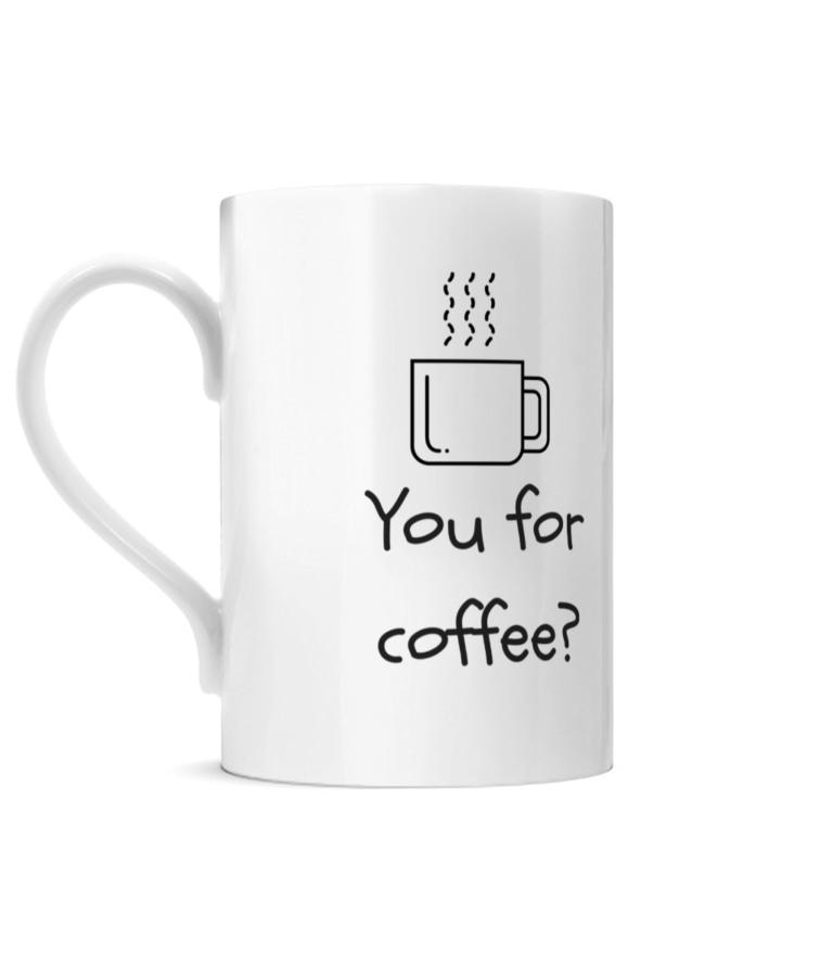 You for coffee Posh Mug Left side