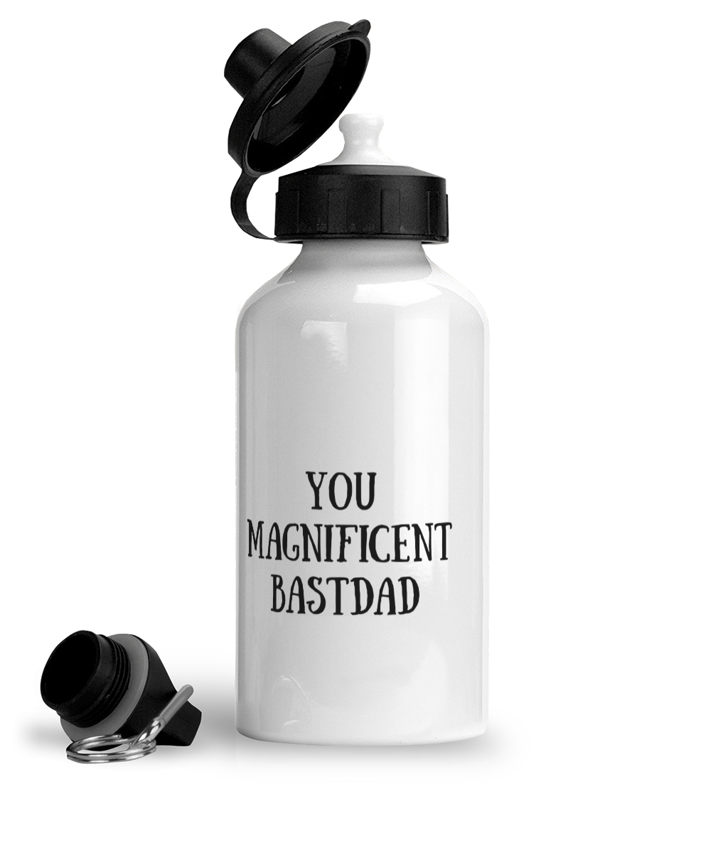 You Magnificent BastDad Water Bottle - Left Side Image