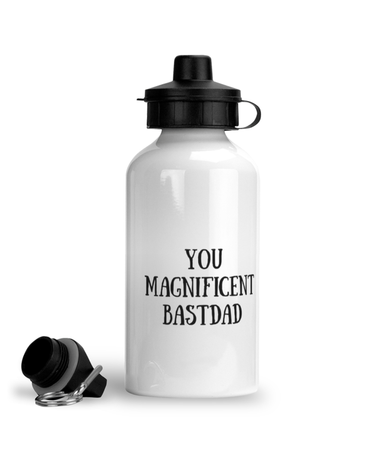 You Magnificent BastDad Water Bottle - Right Side Image