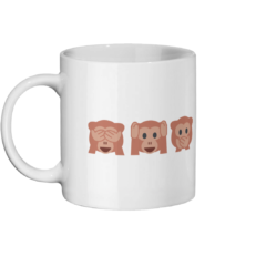 See No Evil, Hear No Evil, Say No Evil Mug Left-side