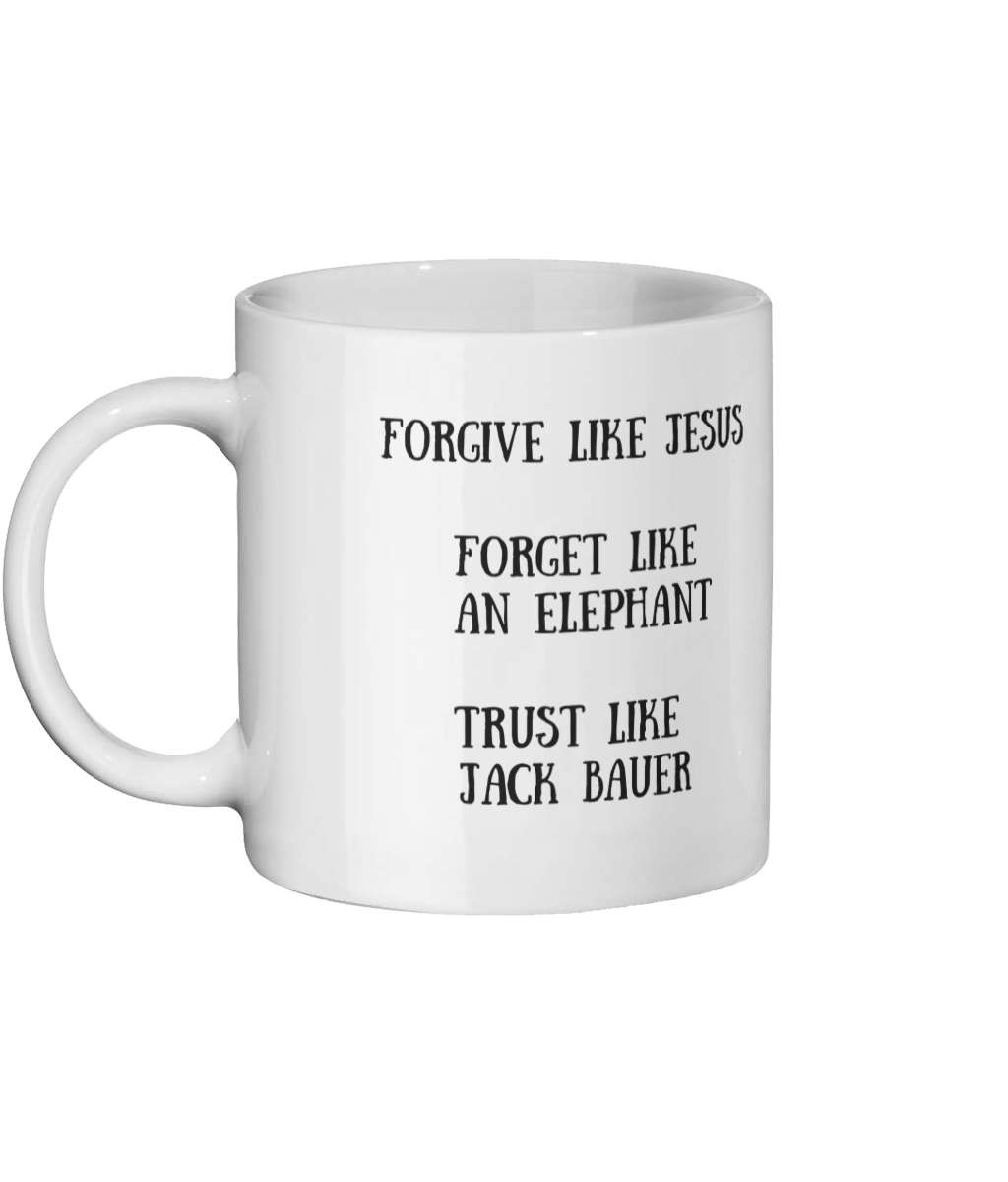 Forgive Like Jesus Mug Left Side